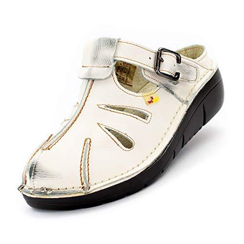TMA Damen Sandalen 8898 Cremeweiß 39