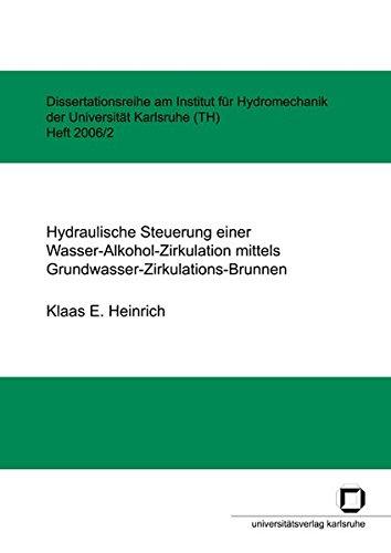 Hydraulische Steuerung einer Wasser-Alkohol-Zirkulation mittels Grundwasser-Zirkulations-Brunnen (Dissertationsreihe am Institut für Hydromechanik der Universität Karlsruhe (TH))
