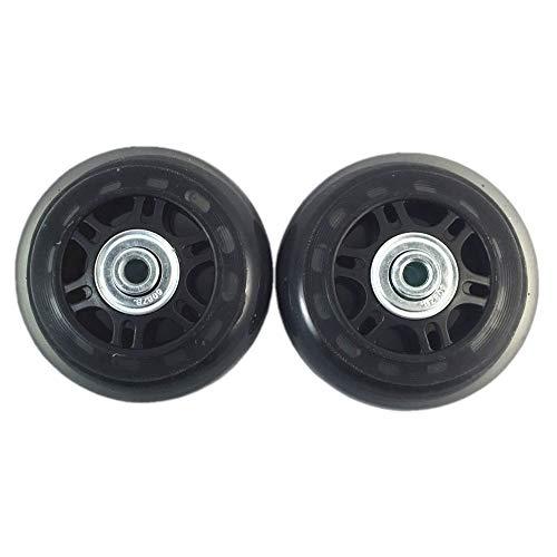 Juego de 2 ruedas de recambio para maletas, y llaves de reparación, diámetro exterior 68mm