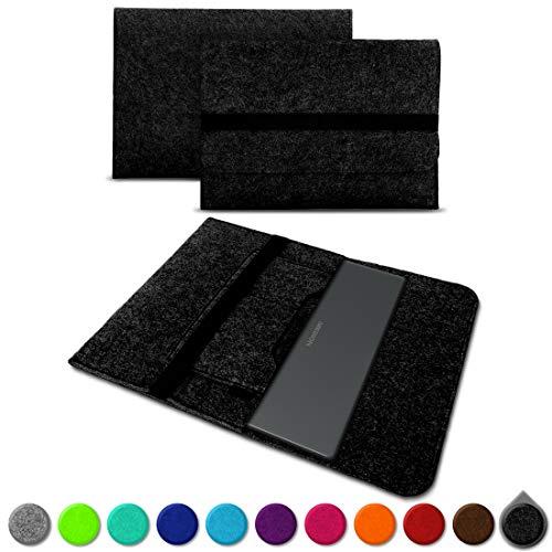 UC-Express Sleeve Hülle kompatibel für Medion Akoya E4271 E4272 Tasche Filz Notebook Cover Laptop Schutz Case sicherer Verschluss 14 Zoll, Farbe:Dunkel Grau