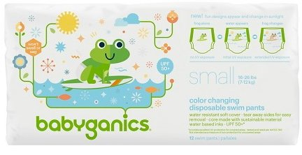 Product Image of the Babyganics Color Changing Disposable Swim Diapers, Small