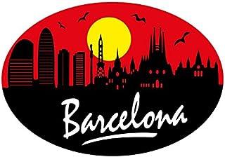 Autocollant ovale Profil Barcelona
