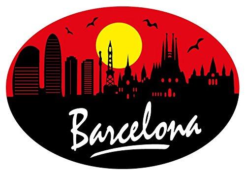 Sticker Oval Profil Barcelona