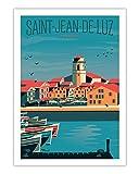 AZSTEEL Poster Saint Jean De Luz No Frame Board for Office