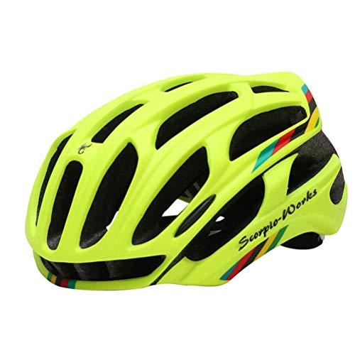 Neborn Fahrradhelm für Herren, Mountainbikehelm M gelb