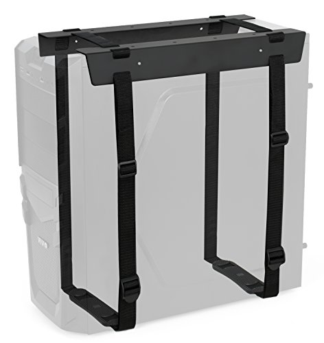 VIVO Under-Desk and Wall Mount PC Adjustable Strap and Steel Bracket Holder, Computer Case Carrier, Black, MOUNT-PC02S