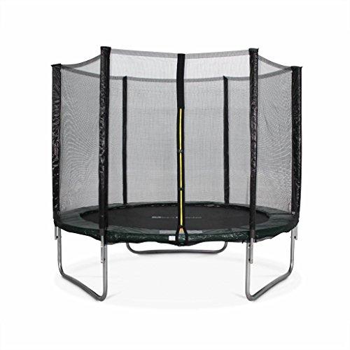 Alice's Garden - Cama elastica, Trampolin de 180 cm, Verde, altura de la red de seguridad 150 cm - Cassiope
