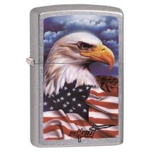 Zippo  ZIP24764  Mazzi Freedom Watch Zippo Lighter