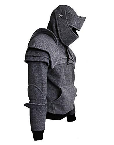 Römischer Ritter 3D Kapuzen Helm Visor Cosplay Wind Maske Fahrer Pullover