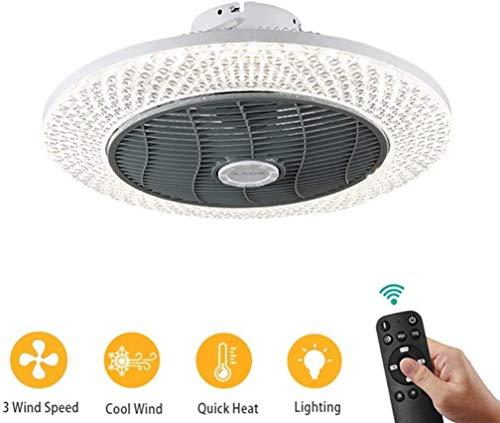 Ventilador de techo ventilador de techo LED se enfríe caliente con ventiladores Iluminación Dimmbare Con la iluminación y en silencio en silencio a distancia para la lámpara de niños de preescolar