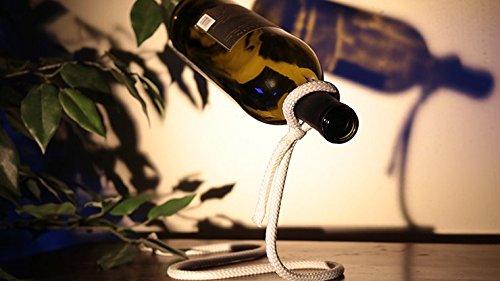 Geschenk/Deko Flaschenhalter - Schwebende Weinflasche, Faszinierende Dekoration für Jede Wohnung, Beeindruckende Schwebe-Illusion, Modern und Magisch zur Lagerung von Wein- oder Whiskey-Flaschen