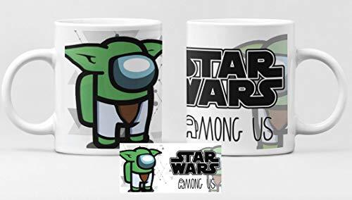 Desconocido Taza de cerámica Among us b Yoda s Wars