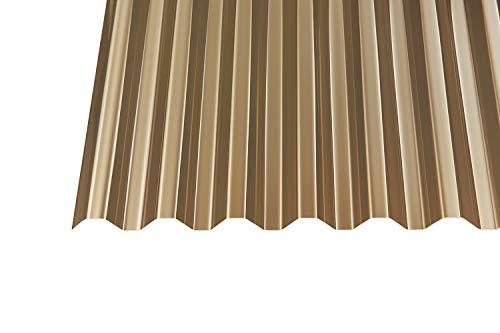 Acryl Wellplatten Profilplatten Trapez 76/18 bronce ohne Struktur 1,5 mm (2500 x 1045 x 1,5 mm)
