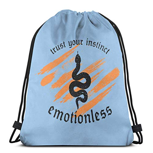 JEOLVP Zaino con coulisse Borsa in poliestere Cinch Sack Casual Daypack Sport Gym Sackpack Unisex Trust Your Instinct Emotionl