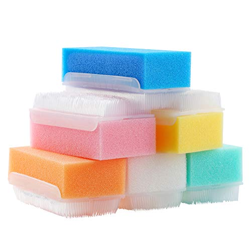 ZIZNBA 12PCS Baby Bath Time Sponge Brush- Body, Hair, and Scalp Cleaning - Gentle on Infant, Toddler Sensitive Skin - Great Sensory Feel.