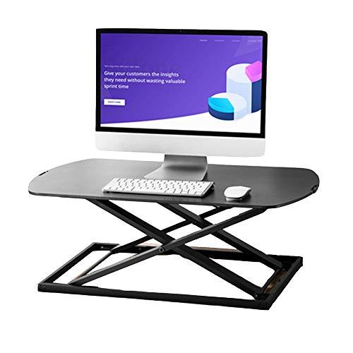 Tables FEI - Bureau Debout Poste de Travail Compact Ultra-Ajustable en Hauteur Assis-Debout pour Tous Les postes de Travail (Couleur : Noir)