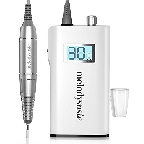 MelodySusie Scamander Nail Drill Electric Nail Files Portable Rechargeable E File Kit 30000RPM, Professional Electric Manicure and Pedicure Set Nail Drill Machine for Acrylic Nails and Gel Nails, UK