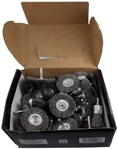 """new arrival Wire Wheel Brush Cup 40pc Assortment Crimped Steel sale 1/4"""" Shank Drills Rust high quality Scale outlet online sale"""