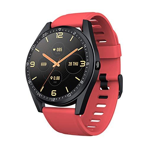 Smart Watch, 24-timmars hjärtfrekvens och blodtrycksövervakning Vattentät inbyggd GPS 5ATM E2 SPORTS Kompatibel med iOS och Android,A