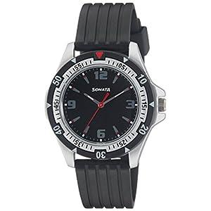 SF Analog Black Round Dial Men's Sport Watch-NL7930PP02