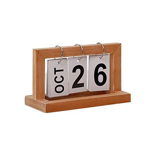 Ruiting Calendario de Sobremesa 2019,Calendario de Escritorio de Madera Estilo Nórdico del Tirón Buen Regalo para El Año Nuevo para Amigos (Madera)