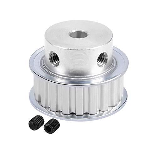 sourcing map Aluminio XL 20 Dientes de 5 mm de diámetro Polea de Correa de Distribución para 10mm Correa de impresora 3D CNC