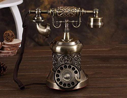 Dirgee Teléfono Antiguo, Moda/Casa Creativa/Máquina de Cable Fija/Tienda de teléfonos móviles de Alta Gama 25x29cm (Color: # 2) (Color : #4)