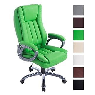 CLP Silla De Oficina Bern XXL Tapizada En Cuero Sintético I Silla Ejecutiva Ergonómica & con Ruedas I Silla De Escritorio Giratoria I Color: Verde