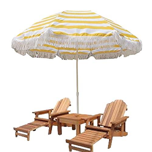 Refue Sombrilla de jardín Inclinable Parasol Exterior 160 cm con 8 Varillas...