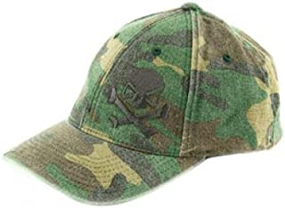 Pipe Hitter's Union Skull & Crossbones Hat, Camo/Black, Small/Medium