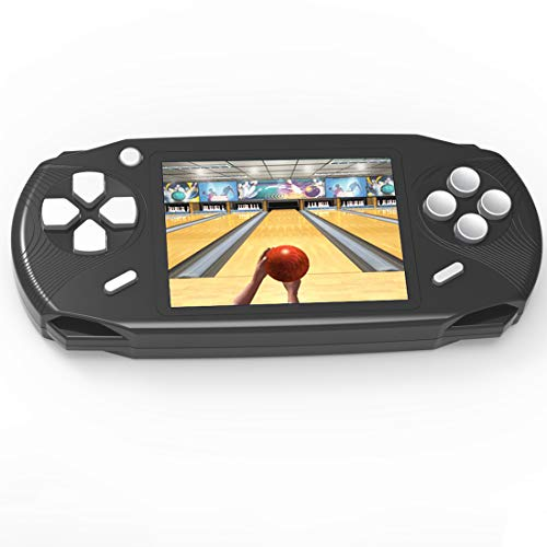 Beijue 16 Bit Handheld Games for Kids Adults 3.0'' Large Screen Preloaded 100 HD Classic Retro Video Games no Need WiFi USB Rechargeable Seniors Electronic Game Player Birthday Xmas Present (Black)