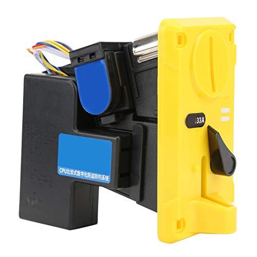 Tomantery Plateado, Amarillo, DC + 12V ± 10%, -15 ℃ ~ + 15 ℃, Aceptador de Monedas, Interferencia Anti-electromagnética, para máquinas expendedoras de cepillos de Dientes para máquinas(Yellow)