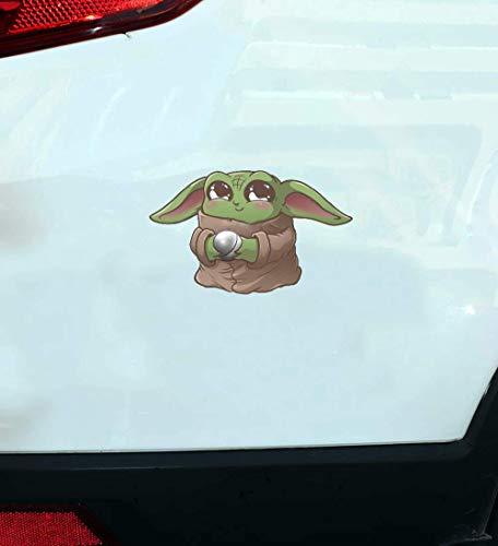 Baby Yoda Auto Aufkleber 2Er Pack Star Wars Baby Yoda Auto Aufkleber Oder Laptop Aufkleber Oder Mandalorian Auto Aufkleber 18CM