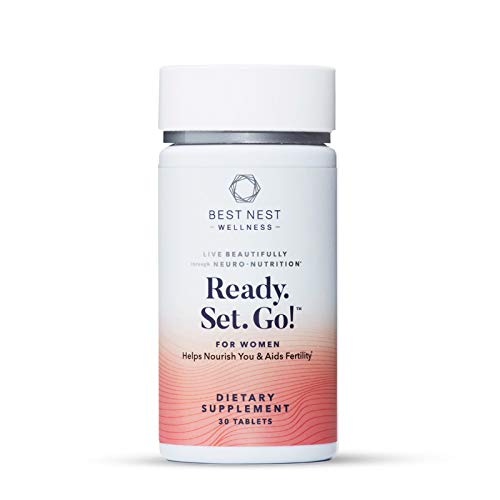 Ready. Set. Go! Fertility Support Prenatal Multivitamin for Women, Methylfolate (Folic Acid), Whole Food Herbal Fertility Blend, Immune Support, 30 Ct, Best Nest Wellness