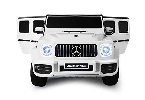 Babycar Mercedes G63 Versione Sport AMG ( Bianco ) Nuova Versione Macchina Elettrica per Bambini Ufficiale con Licenza 12 Volt Batteria con Telecomando 2.4 GHz Porte Apribili con MP3