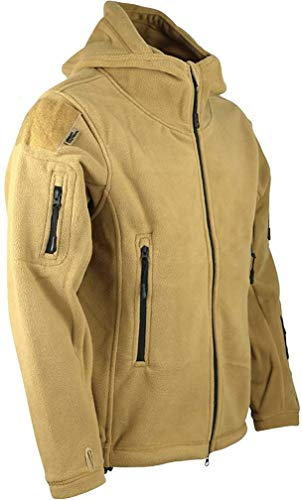 Kombat UK Herren Recon Tactical Fleece Hoodie, Beige (Coyote/Tan), Gr. M