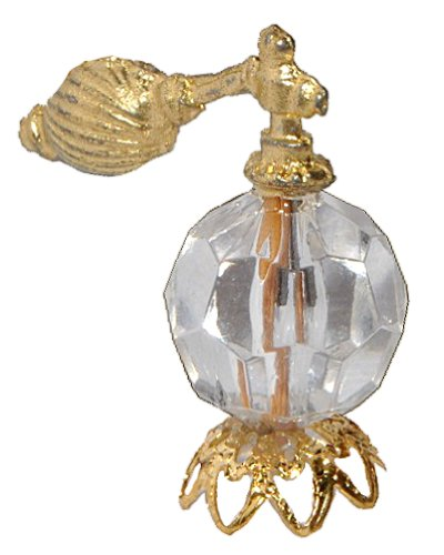 alles-meine.de GmbH Miniatur Parfüm Flakon - für Puppenstube Maßstab 1:12 - für Badezimmer Zubehör Parfumflaschen Zerstäuber Parfum Flasche Flacon Nostalgie / Parfumflasche Diora