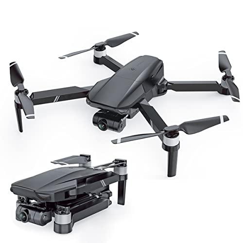 KUOPE Droni con Doppia Fotocamera per Adulti 4K, Drone GPS con Fotocamera Cardanica A 2 Assi, Quadricottero Professionale A Lungo Raggio per Principianti Trasmissione 5G FPV