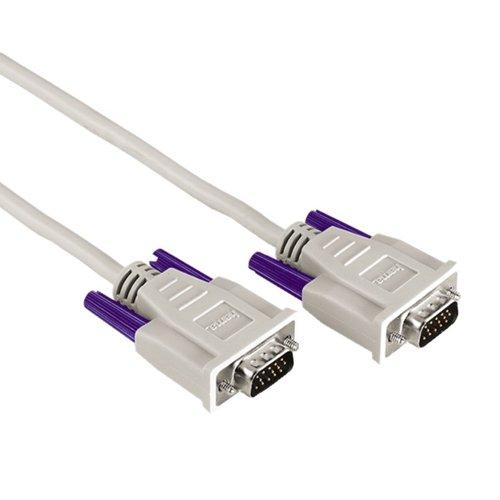 Hama VGA - VGA Cable VGA 5 m VGA (D-Sub) Blanco - Cables VGA (5 m, VGA (D-Sub), VGA (D-Sub), Blanco, Níquel, Male Connector/Male Connector)