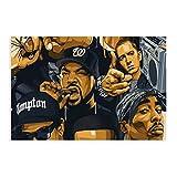 GDFG 2pac Ice Cube Snoop Dogg Eminem Gruppenfoto berühmter