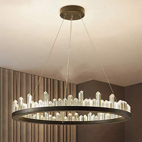 CLEAVE WAVES Luces Colgante De Lámpara De Araña LED Suspensión Cristal Circular, Iluminación Minimalista Moderna para Sala De Estar Comedor Dormitorio Villa Hotel [Clase Energética A],60cm,60w