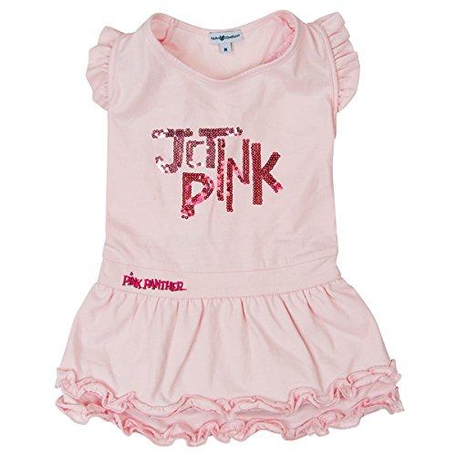 Roze Panter Hond Jurk met Pailletten, Medium, roze