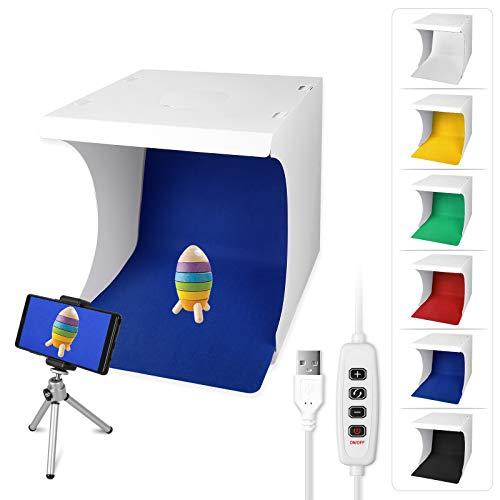 Sunjoyco Portable Photo Studio Light Box 12'/32cm Foldable Table Top Lighting Shooting Tent Kit with...