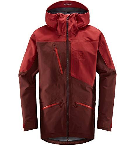 Haglöfs Skijacke Herren Parka Nengal 3L Proof Wasserdicht, Winddicht, Atmungsaktiv Maroon Red/Brick Red M M
