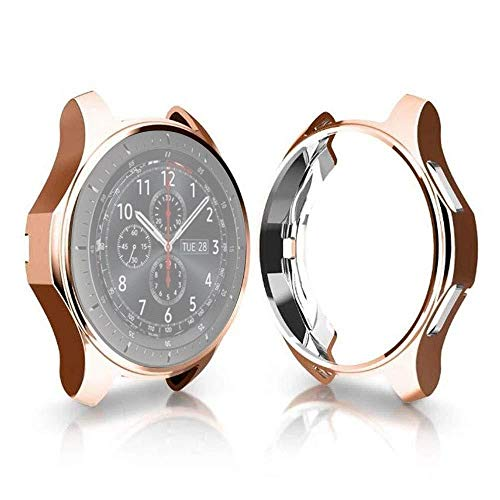 Fashion horloges TPU Plated Shockproof Case for Samsung Gear S3 Frontier Smartwatch 46mm (zwart). (Color : Rose Gold)