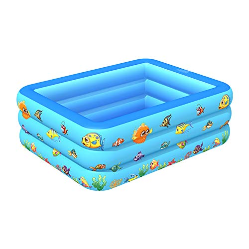 YHNHT Piscina inflable infantil de 70 pulgadas, bañera inflable Sealive para bebé, rectangular, piscina rectangular para niños, familia, al aire libre