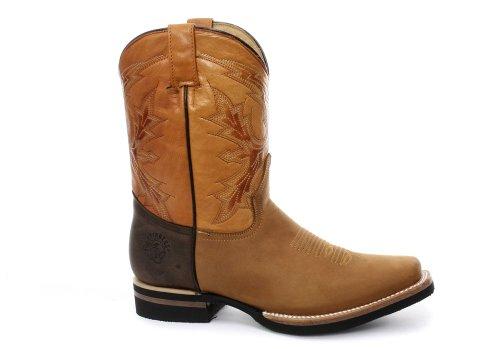 Grinders EL Paso Herren Western Cowboy Stiefel, Beige, Größe 43