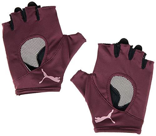 PUMA Damen at Gym Gloves Handschuhe, Vineyard Wine, M