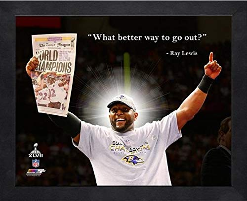 "Ray Lewis Baltimore Ravens ProQuotes Photo (Size: 12"" x 15"") Framed"