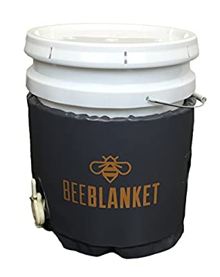 Powerblanket BB05GV Bee Blanket Honey Heater, 5 gal Pail Heater with Cutout for Gate Valve, Charcoal Gray by Powerblanket